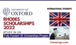 Rhodes Scholarships 2022 application